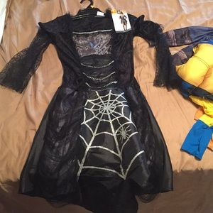 Womens adult spider witch costume